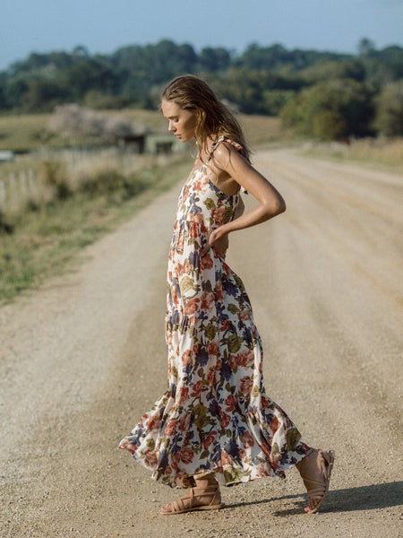 Kivari Paloma Strappy Maxi Dress