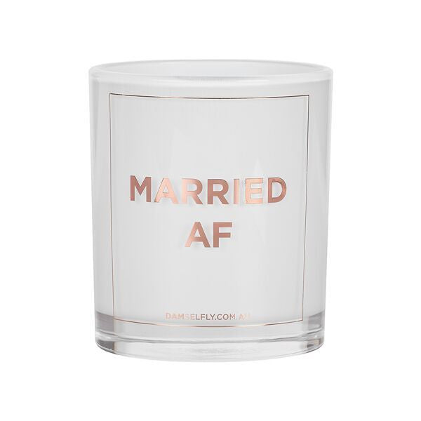 Damselfly Candle L - Married AF Rose Gold