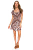 Arnhem Azalea Mini Dress - Brown