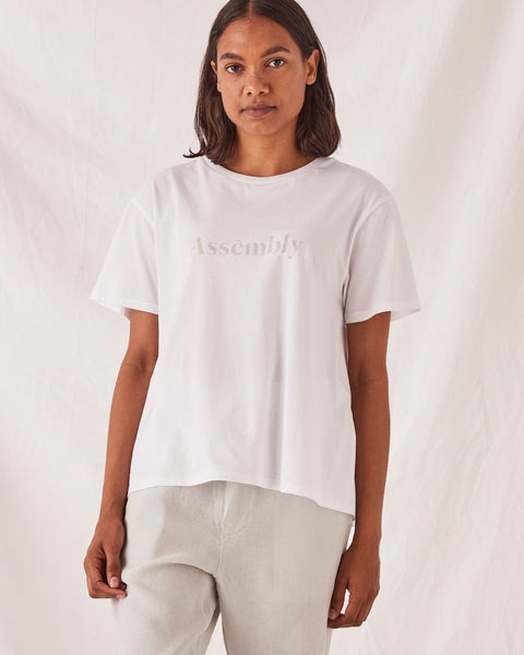 Assembly Label Lexica Tee - White/Green Mist