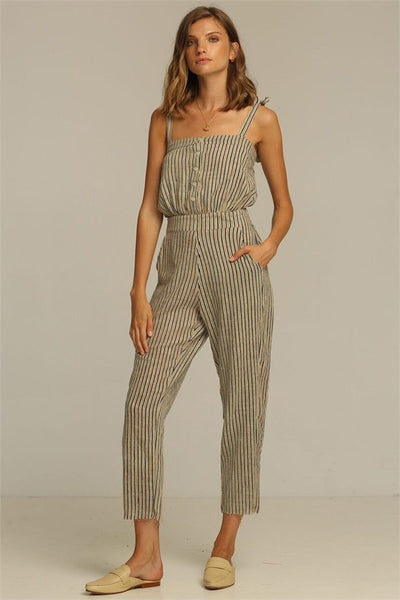 Rue Stiic Grace Jumpsuit - New Sand Stripe