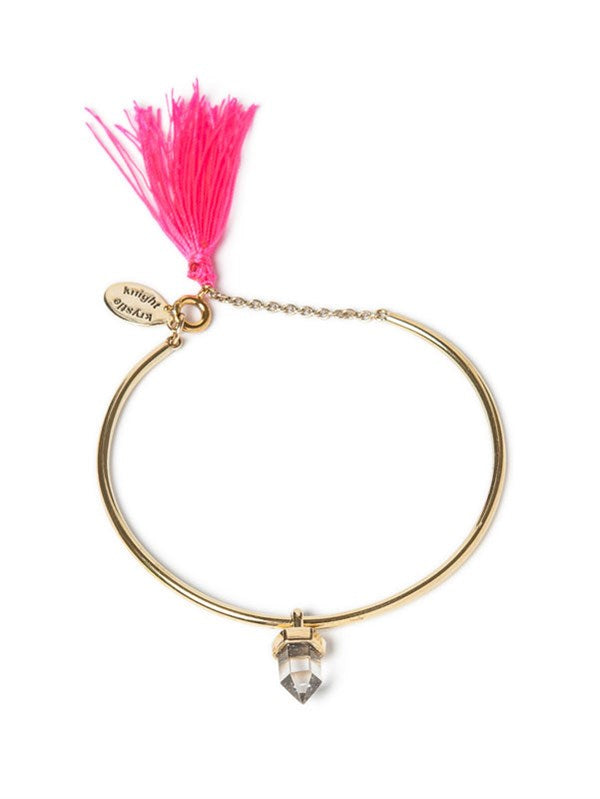 Krystle Knight Enchantment Bracelet - Brass/Neon Pink