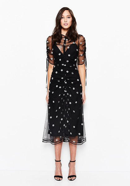 Alice McCall Garden Party Dress Black Daisy