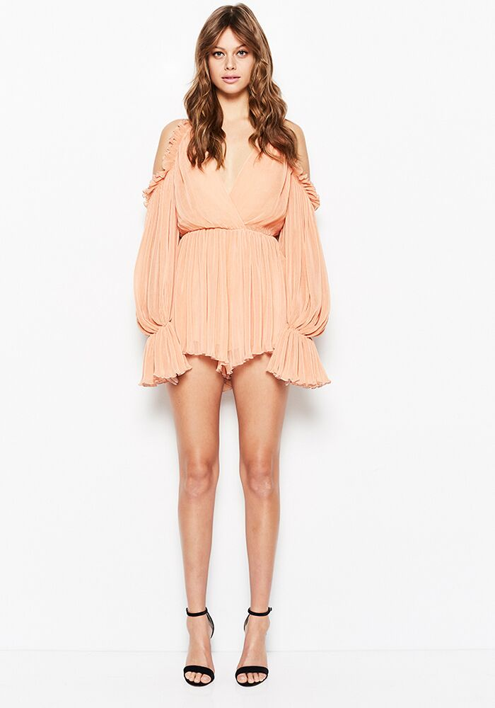 Alice McCall Shake For Me Playsuit- Apricot