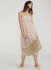 Faithfull The Brand Suki Midi Dress- Brighton Stripe Vintage Pink