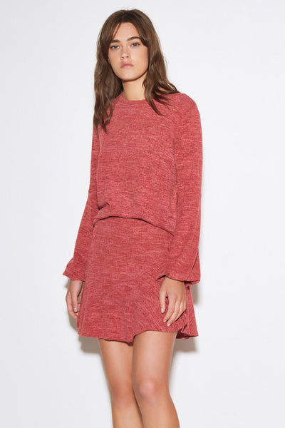 The Fifth Lily LS Top- Red Marle