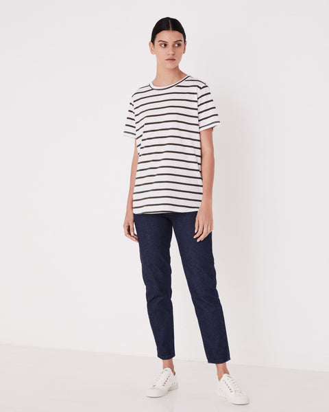 Assembly Label Everyday Tee - Moss Stripe