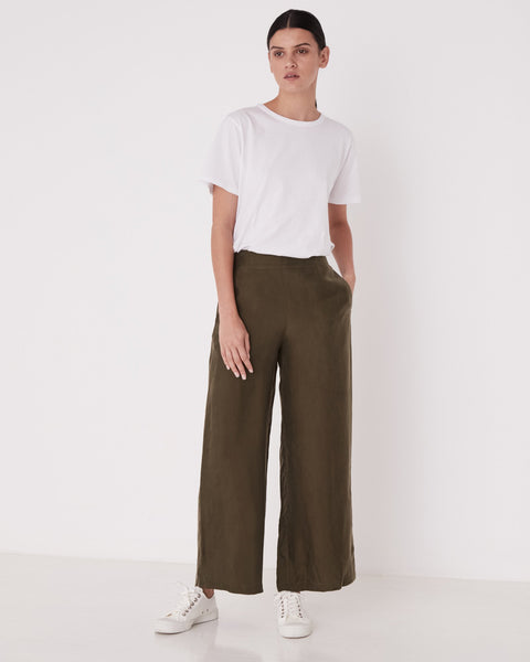 Assembly Label Bellevue Wide Leg Pant - Moss