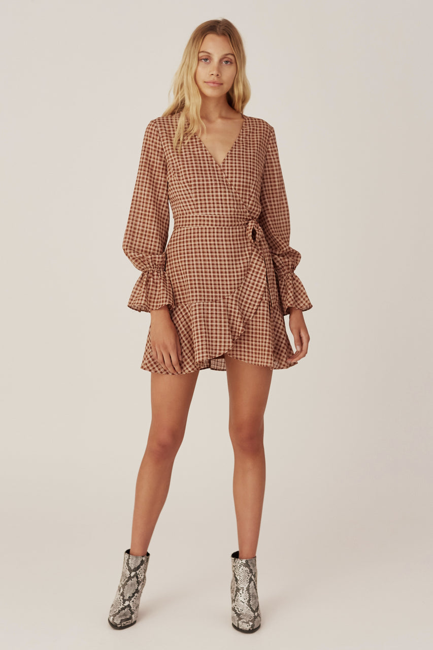 The Fifth Longitude Check LS Dress