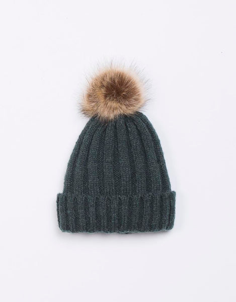 Jorge Break Up Pom Pom Beanie - Green