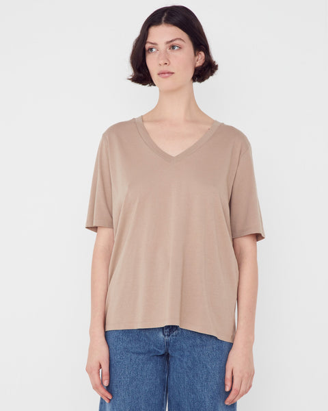 Assembly Label V neck Tee - Husk