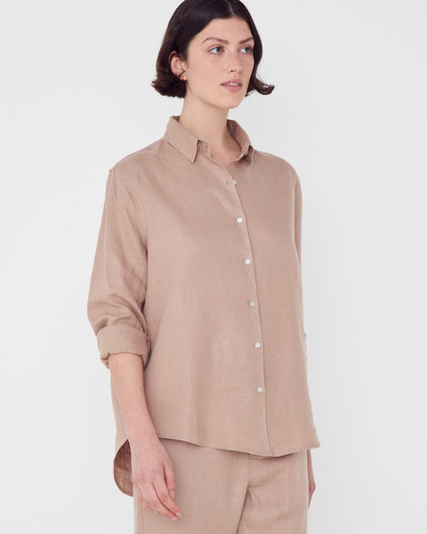 Assembly Label Xander Linen Shirt - Husk