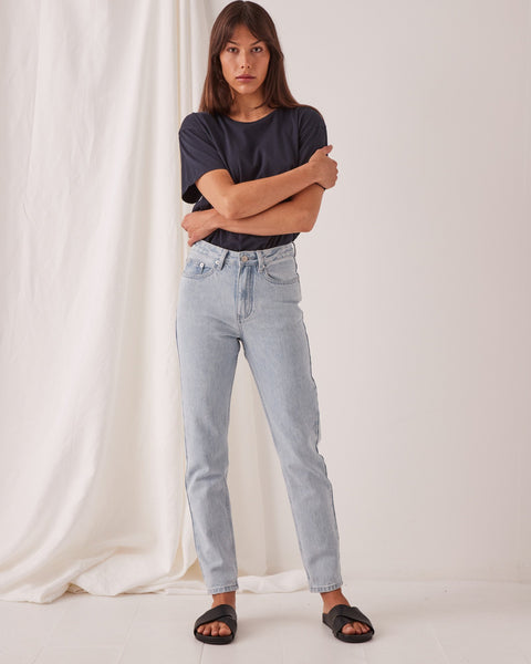 Assembly Label High Waist Rigid Jean - Pacific Blue