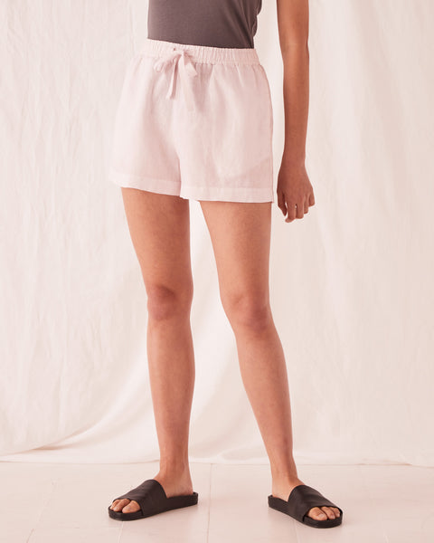 Assembly Label Anika Linen Short - Pink Dew