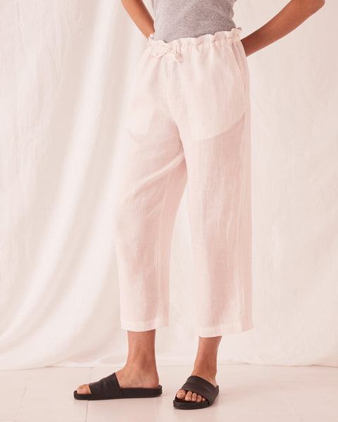 Assembly Label Ollie Linen Pant - Pink Dew