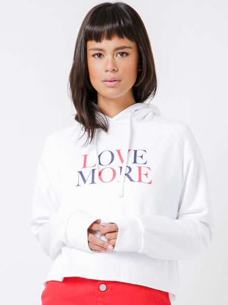 Nude Lucy Love More Slogan Hoodie - White