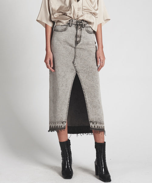 OneTeaspoon Grey Society Maxi Skirt- Rocko