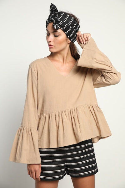 Lilya Sanne Blouse - Coffee