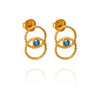 Temple Of The Sun Fortuna Stud Earrings - Gold