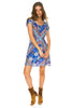 Arnhem Azalea Mini Dress - Blue