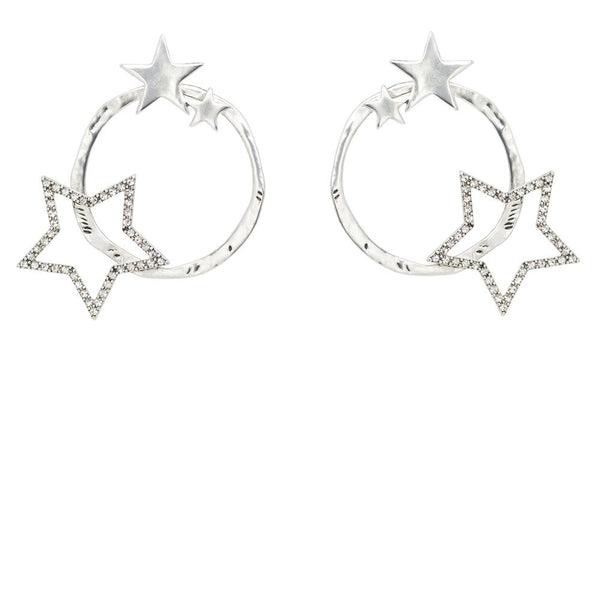Kitte- Consellation Earring- Silver