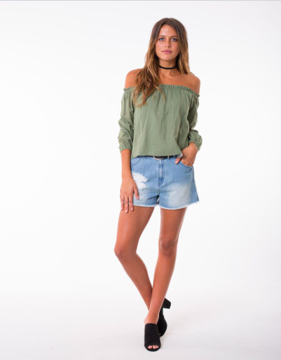 All About Eve Vienna Top - Khaki