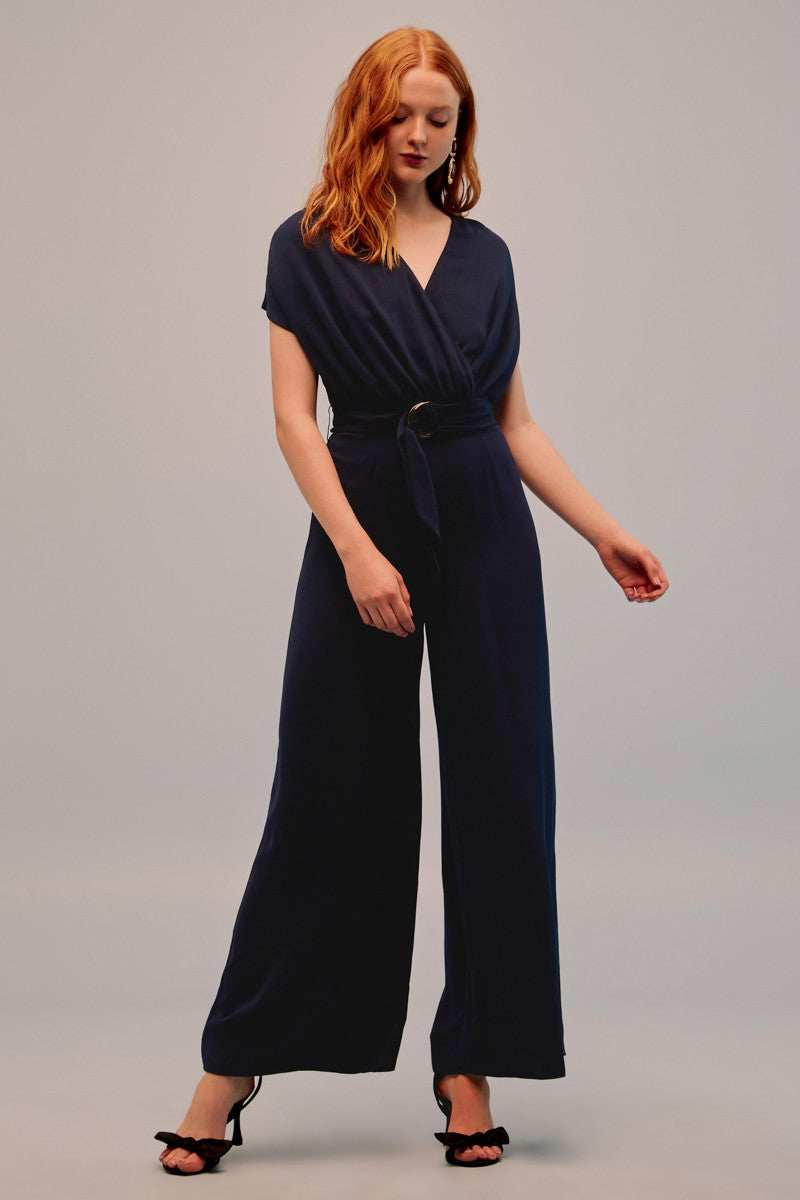 Keepsake Motor Jumpsuit - Navy