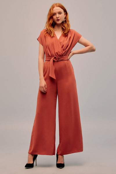 Keepsake Motor Jumpsuit - Burnt Orange