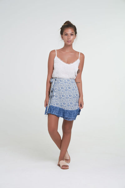 Indian Summer Peony Wrap Skirt