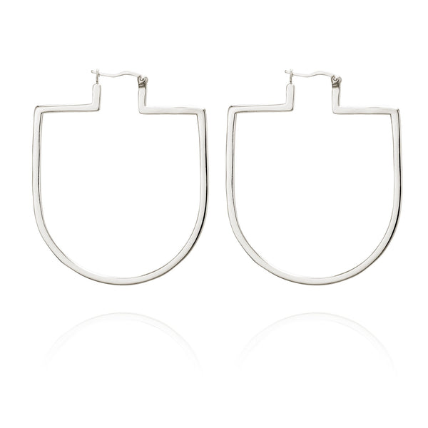 Temple Of The Sun Bea Earrings - Silver