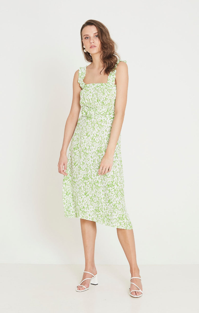Faithfull The Brand Mae Midi Dress - Freja Floral Print