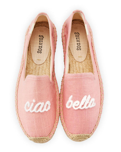 Soludos 'Ciao Bella' Embroidered Platform Smoking Slipper - Pink
