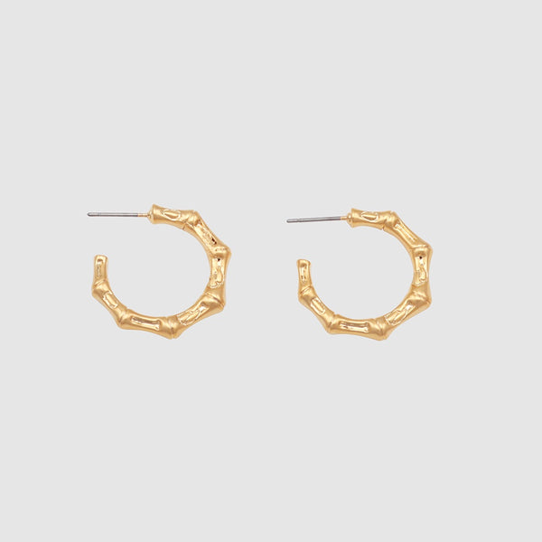 Jolie and Deen Bamboo Hoops Gold