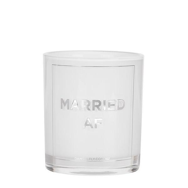 Damselfly Candle L - Married AF Silver