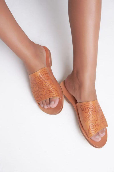 Indian Summer Co- Summer Slide Embossed Leather