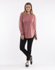 All About Eve Chase Longline Jumper - Dusty Rose