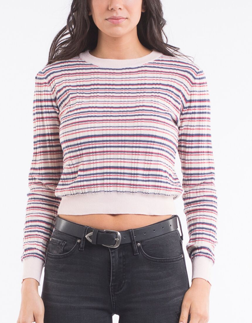 All About Eve Cher Long Sleeve Rib Top