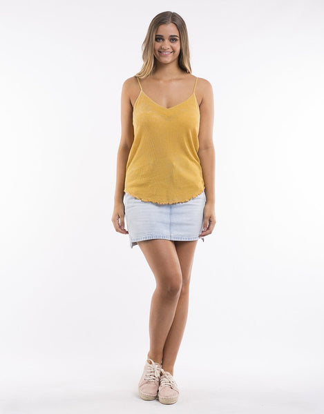 All About Eve Justine Singlet - Gold