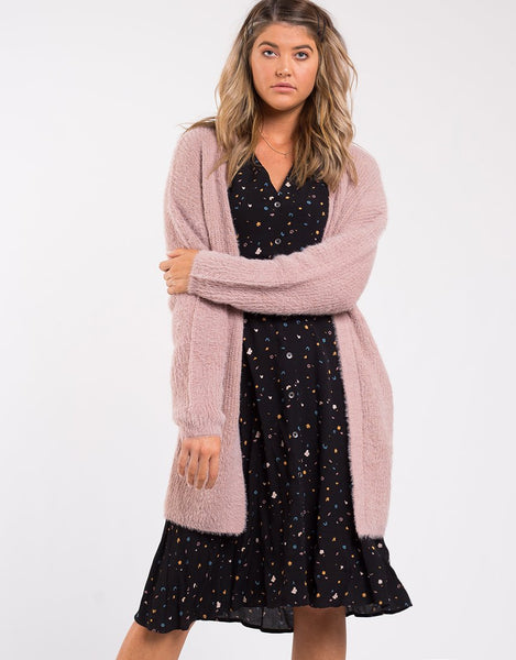 All About Eve Scarlet Cardi- Dusty Pink
