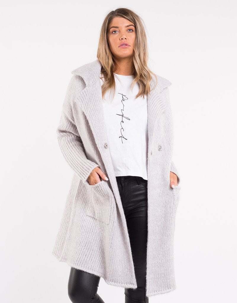All About Eve Heritage Coatigan - Grey Marle