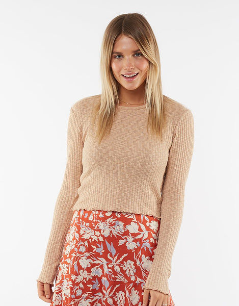 All About Eve Maya Long Sleeve- Sand