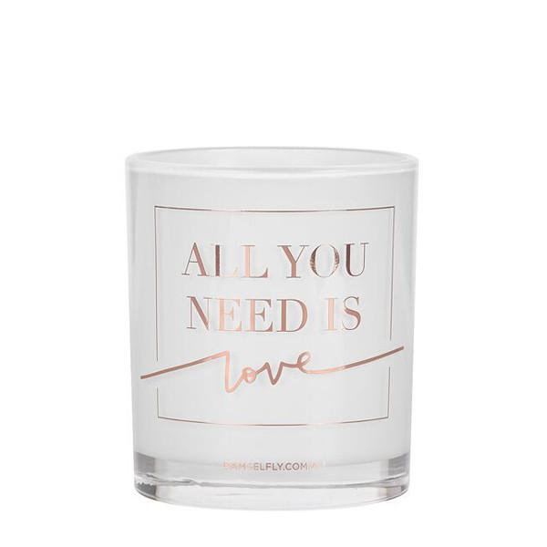 Damselfly Candle L - All You Need Is Love Rose Gold