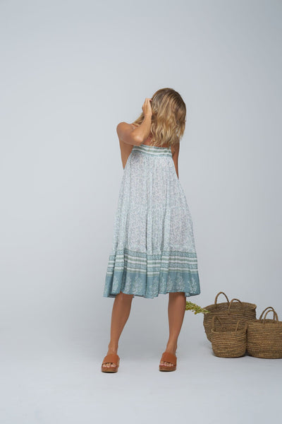 Indian Summer Co Poppy Dress Indra Desert Sage