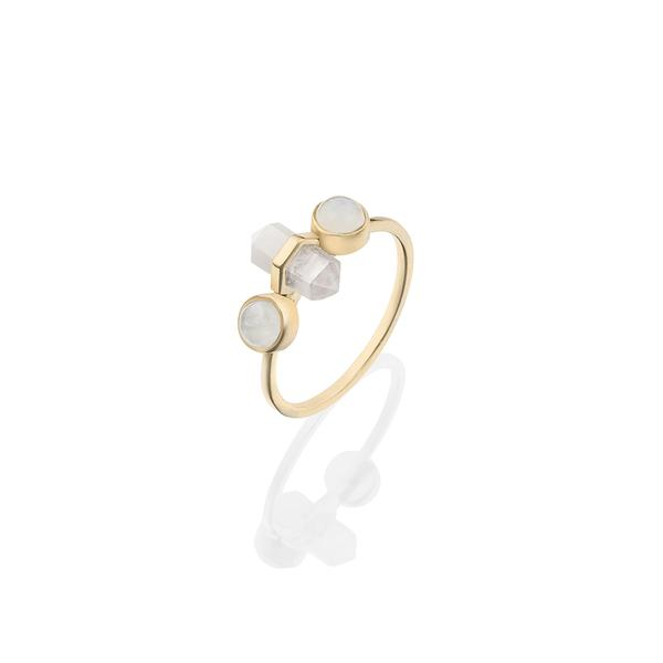 Krystle Knight Mini Goddess Ring - Brass