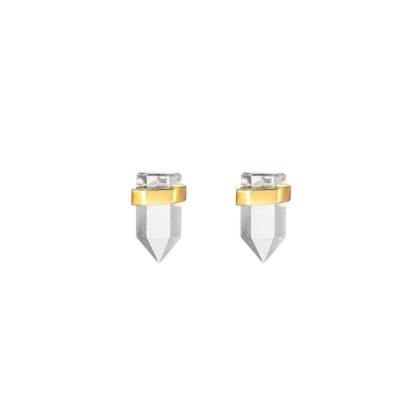 Krystle Knight Natural Sunlight Studs - Gold
