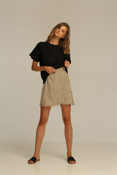 Rue Stiic Calexico Wrap Skirt - New Sand Stripe