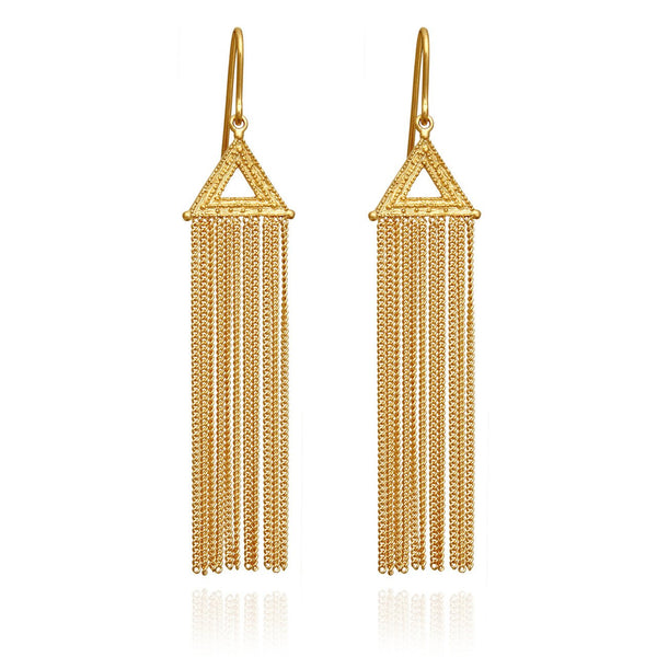 Temple Of The Sun Amica Earrings - Gold