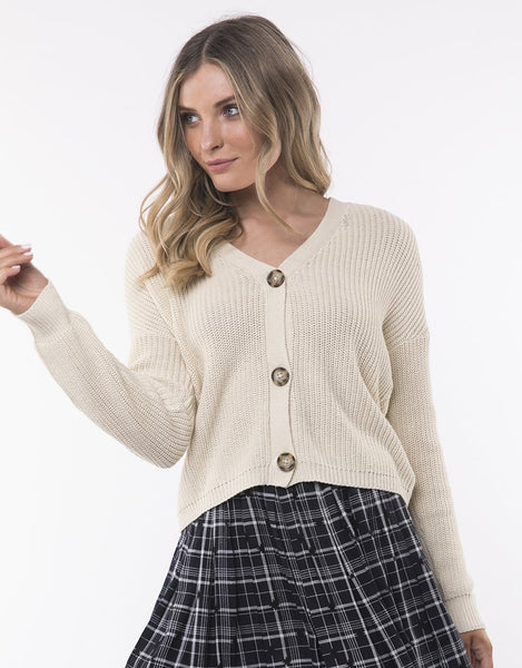 All About Eve 90's Cardi- Beige