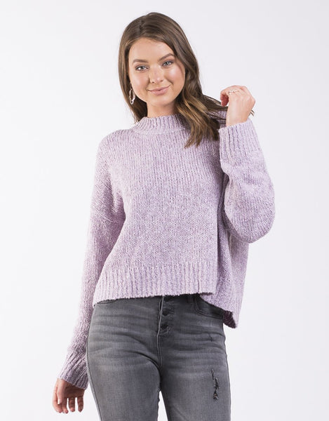 All About Eve Assorted Knit Crew - Soft Purple