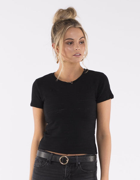 All About Eve Audrey Knitted Tee - Black